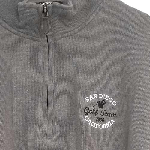 San Diego Gift 1/4 Zip Flat Back Rib Pullovers (#9175)