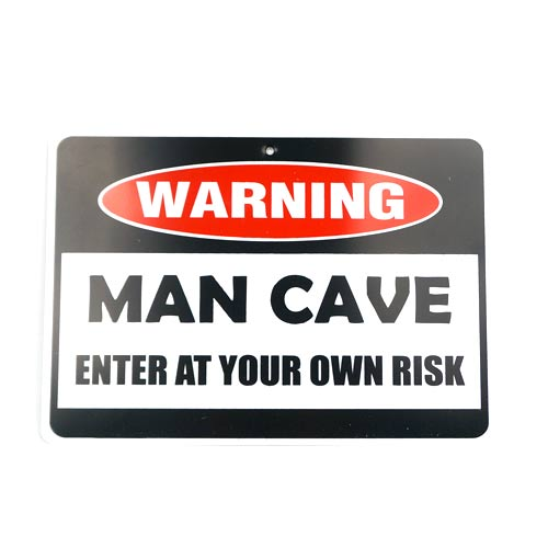 San Diego Gifts Warning Mancave Plastic Signs
