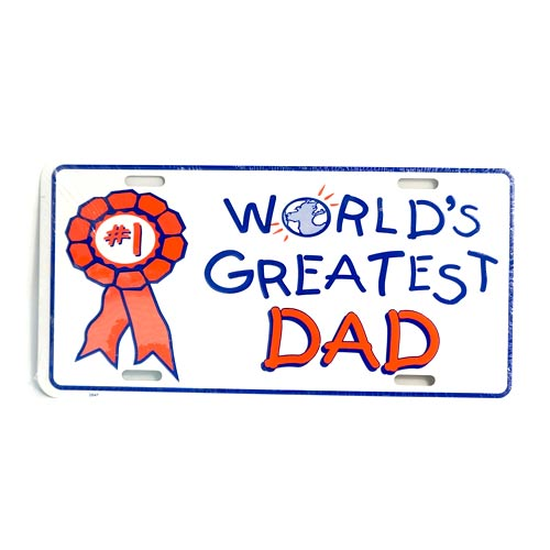 San Diego Gifts World\'s Greatest Dad Metal License Plates