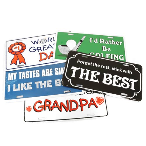 San Diego Gifts World's Greatest Dad Metal License Plates