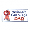 World's Greatest Dad Metal License Plates