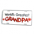 World's Greatest Granpa Metal License Plates