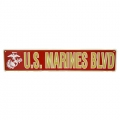 U.S. Marines Blvd Metal Street Signs