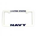 Navy Plastic License Plate Frames