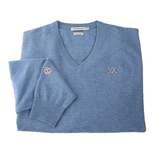 スコッティキャメロン 2012 V-Neck Cashmere Country Blue Sweaters
