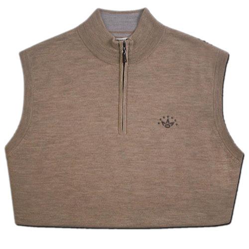 スコッティキャメロン Merino Wool V Neck Quarter Zip Sweater Vests
