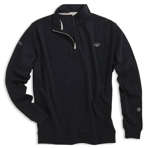 Scotty Cameon Peter Millar Heather Interlock Quarter Zip Sweater