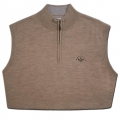 Scotty Cameron Merino Wool V Neck Quarter Zip Sweater Vests