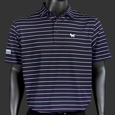 Scotty Cameron Scotty Dog Tech Stretch Mesh Bengali Stripe Polo