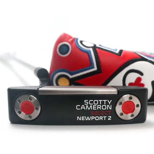 Scotty Cameron Newport 2 Black/Red Custom Putter
