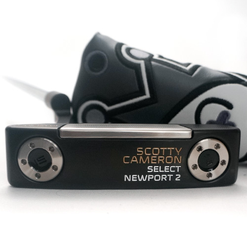 Scotty Cameron Newport 2 Black/Gold Custom Putter