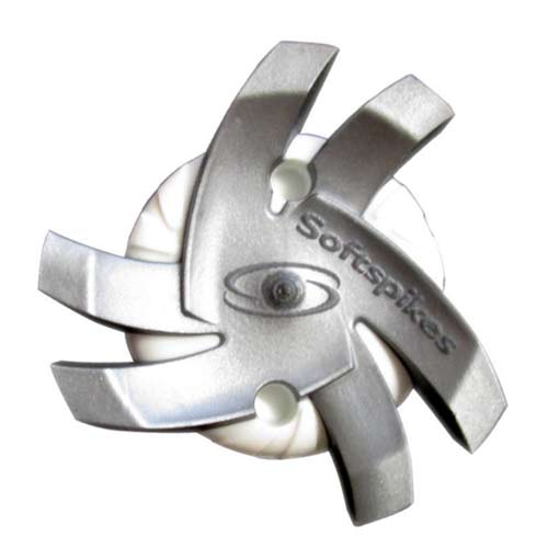 Softspikes Silver Tornado Golf Cleats Fast Twist