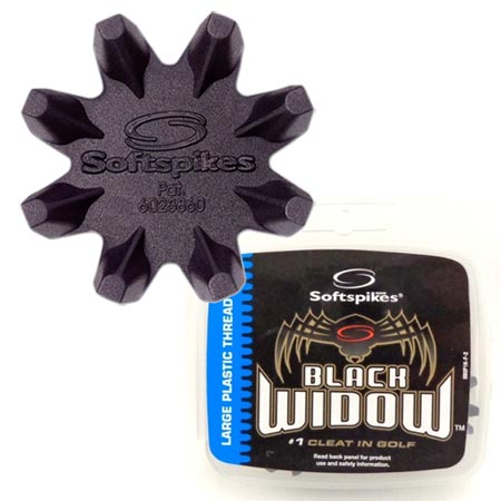 Softspikes Black Widow Classic Large Plastic Insert Cleats