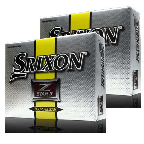 Srixon Z star X Tour Yellow Golf Balls 2packs