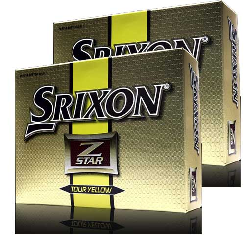 Srixon Z star Tour Yellow Golf Balls 2packs