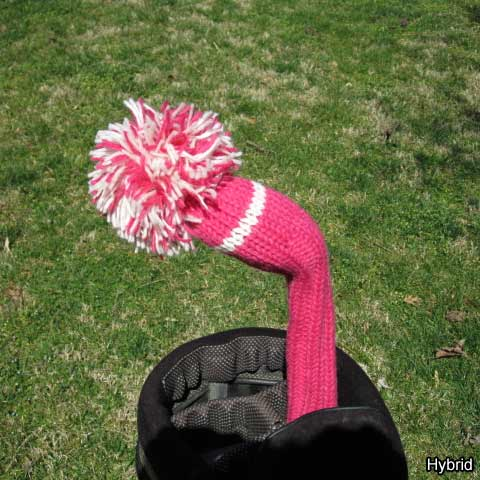 Sunfish Knit Pink and White Headcovers