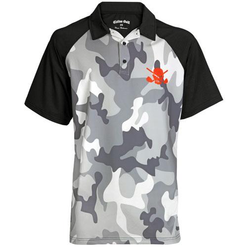 タトゥーゴルフ Camo Performance Golf Shirts
