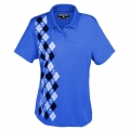 TattooGolf Ladies Blue Monster Golf Shirts