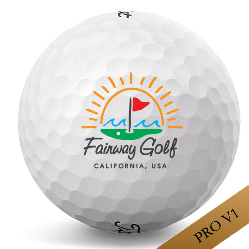 タイトリスト Pro V1 Sun & Wave California Logo Golf Balls(2017)