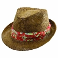 Tommy Bahama Brown Toyo Fedora Hats (#TBW 135OS)