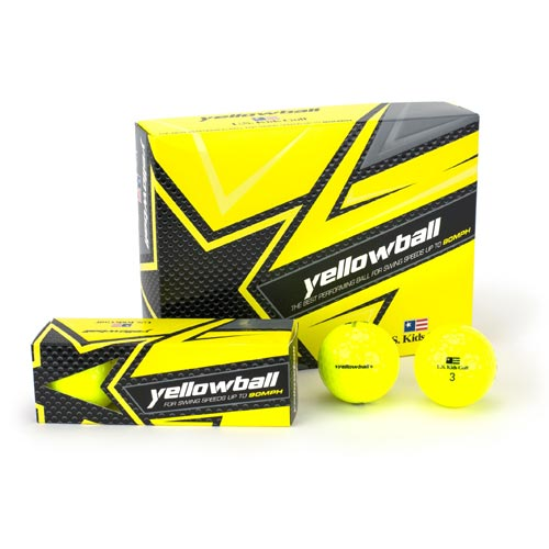 USKids Yellowball Dozen Golf Ball