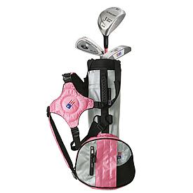 USKids UL39 Pink 3-club Carry Set