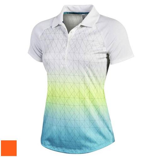 Under Armour Ladies Nassau Print Polo Shirts/アーマーレディースナッソープリントポロシャツの下で【ゴルフウェアUnderArmour(アンダーアーマー)】/UND0017/UnderArmour(アンダーアーマー)/激安クラブ USAから直送【フェアウェイゴルフインク】