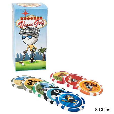 Vegas Golf 8 Chips Poker Chip Golf Game