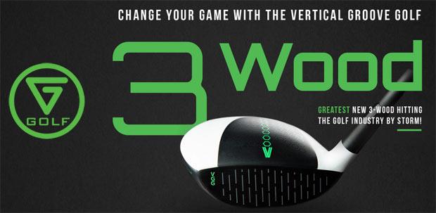 Vertical Groove Golf 3 Wood