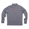 Vokey Design FJ Stripe Double Layer Knit Half Zip Pullover