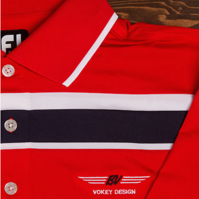 Vokey Design FJ ProDry Lisle Chest Stripe Polo Shirts