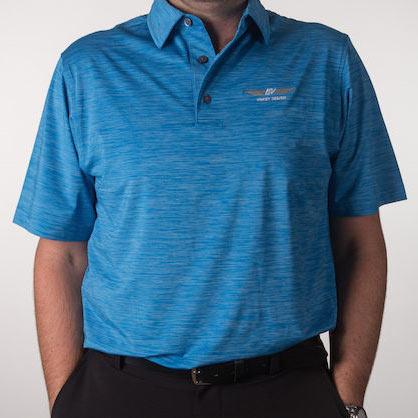 Vokey Design FJ Space Dye Lisle Self Collar Polo Shirts