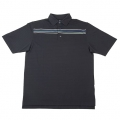Vokey Design Solid Texture Chest Stripe Polo Shirts