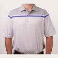 Vokey Design FJ Color Block Chest Stripe Athletic Fit Polo Shirt