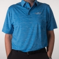 Vokey Design FJ Space Dye Lisle Self Collar Polo Shirts