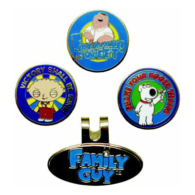 winn グリップing Edge Family Guy Ball Mark Hat Clip Sets