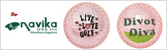 Navika Ladies Metallic Golf Balls
