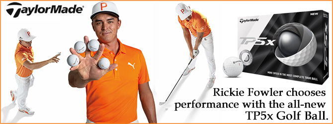Rickie Fowler chooses performance with the all-new TP5x Golf Ball.