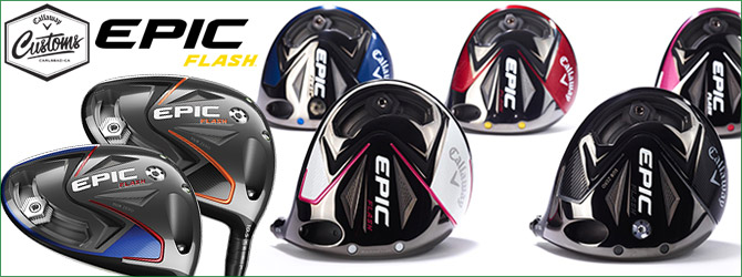 (カスタム色!特注ペイント・ドライバー) Callaway Epic Flash Custom Driver with Paintfill