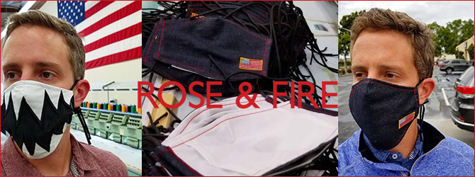 Rose & Fire Non-Medical Cloth Face Masks
