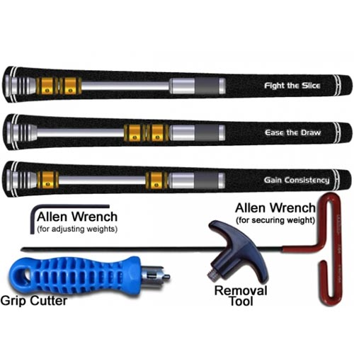 Golf Back Weight System - Shaft Stabilizer with Adjustable