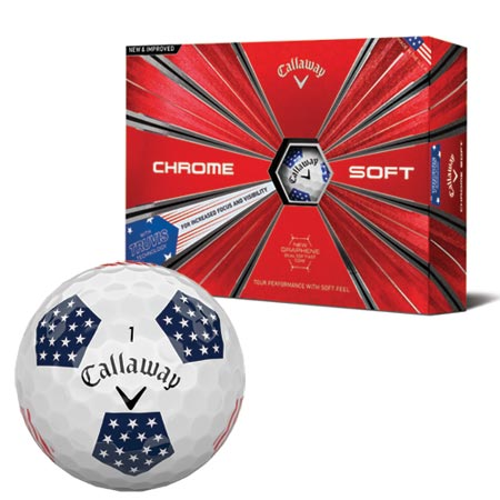 Callaway 2018 Chrome Soft Truvis Stars and Stripes Golf Ball