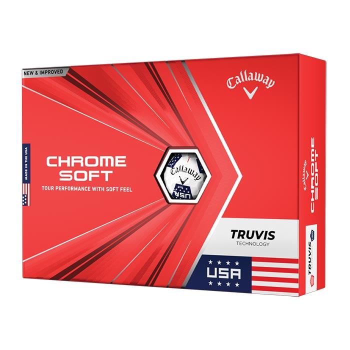 Callaway Limited Edition Chrome Soft Truvis USA Golf Ball