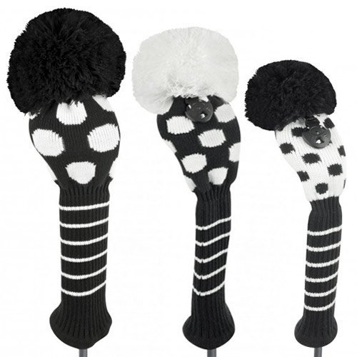 Just 4 Golf Ladies Black and White Dot Headcovers