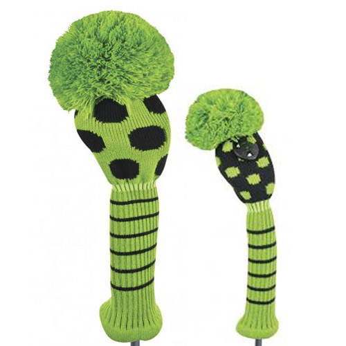 Just 4 Golf Ladies Lime and Black Dot Headcovers