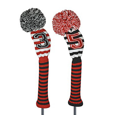 Just 4 Golf Ladies Red and Black Sprit Stripe Headcover