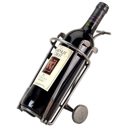 Metal Art Golf Bag Wine Caddies