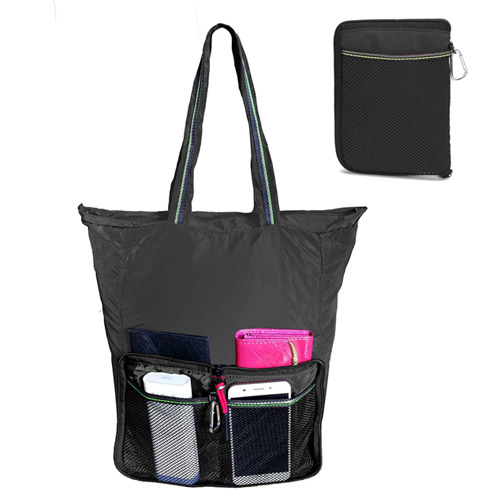 Reusable Grocery Bag with Top Zipper Closure