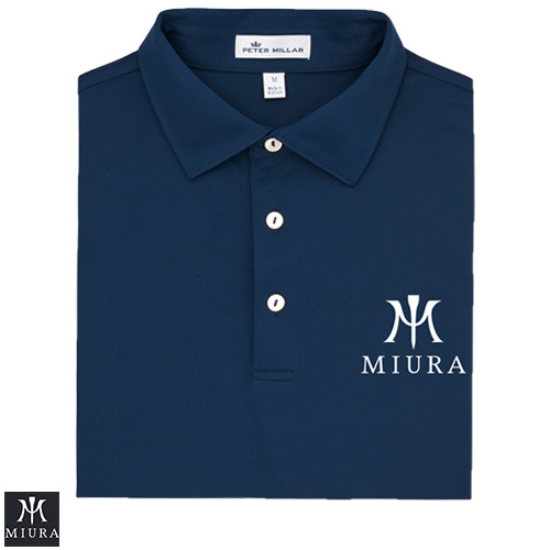 Miura Peter Millar Solid Stretch Mesh Polo