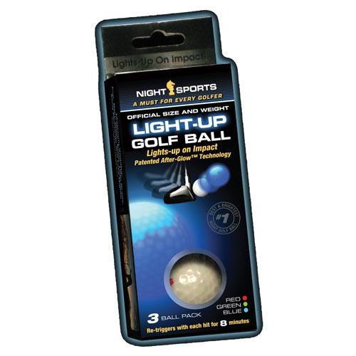 Night Sports Light Up Golf Balls (3pcs)
